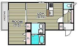 コンフォート・セルビエ[2階]の間取り