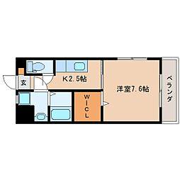 JR東海道本線 静岡駅 徒歩20分の賃貸マンション 4階1Kの間取り