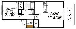 大阪府大阪市生野区小路1丁目の賃貸アパートの間取り