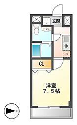 現代ハウス金山[6階]の間取り