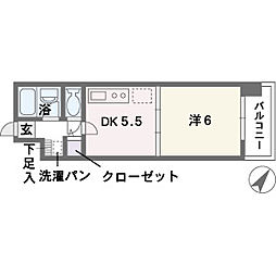 ルアディッソ福岡[9階]の間取り