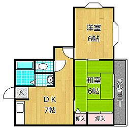 メゾンOHSAKI[3階]の間取り