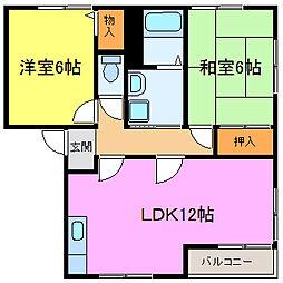 パストラル田寺東[B102号室]の間取り