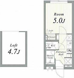 西武池袋線 練馬駅 徒歩8分の賃貸アパート 3階1Kの間取り