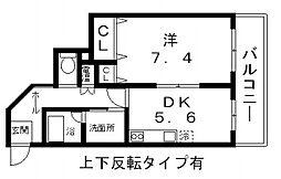 Avanti Parco 山本北[201号室号室]の間取り