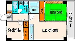 日宝ライフ桜宮[5階]の間取り