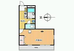 レオパレスWITH−A[1階]の間取り