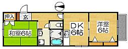 カサエスペランサ[2階]の間取り