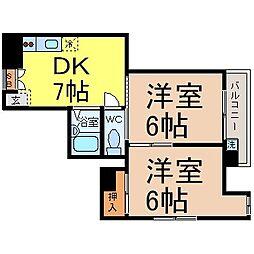 Casa Okuda(カーサオクダ )[2階]の間取り