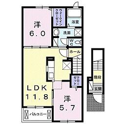 フォルシュM[2階]の間取り