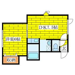 ドリーム里塚III[2階]の間取り