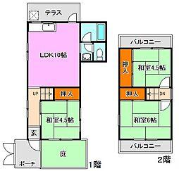 [一戸建] 兵庫県神戸市須磨区天神町4丁目 の賃貸【/】の間取り