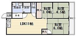 若草第一マンション[5階]の間取り