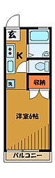 東京都小金井市貫井北町の賃貸アパートの間取り