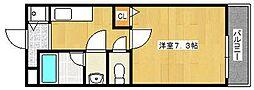 エーワン池浦[207号室]の間取り