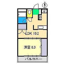 フィール岡豊I[2階]の間取り