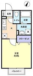 メゾンコリーヌ[2階]の間取り