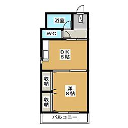 第一正美堂ビル[6階]の間取り