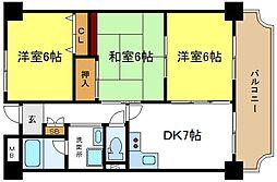 パラシオン平野[7階]の間取り