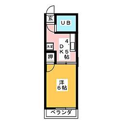 メゾン210[1階]の間取り