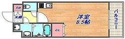 ラウル六甲道[1003 Cタイプ号室]の間取り