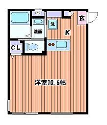 東京都昭島市緑町5丁目の賃貸アパートの間取り