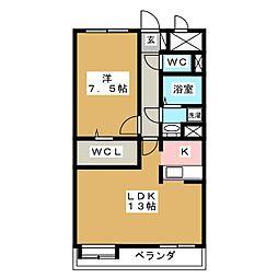 上杉五番館[4階]の間取り