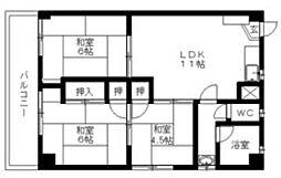 中尾第1ビル[3階]の間取り