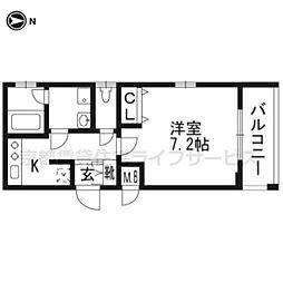 ベラジオ京都西院ウエストシティ201[2階]の間取り