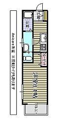 アミカーレ朱雀[2階]の間取り