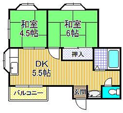 仁平マンション[3階]の間取り