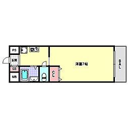 兵庫県神戸市兵庫区大開通5丁目の賃貸アパートの間取り