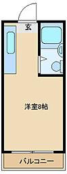 日昭第二瓢箪山ハイツ[202号室]の間取り