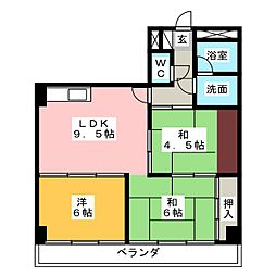 マンション光洋白子102[1階]の間取り