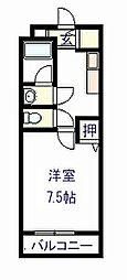 ワイズクレスト久米田[2階]の間取り