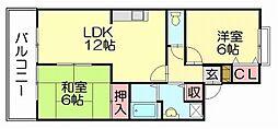 セジュール新原[2階]の間取り