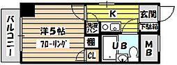 トーカン東淀川キャステール[607号室]の間取り