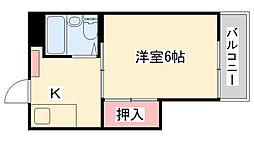 兵庫県神戸市灘区篠原中町4丁目の賃貸アパートの間取り