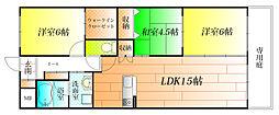 コートレジデンス[1階]の間取り