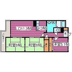 北海道札幌市東区北四十一条東20丁目の賃貸マンションの間取り