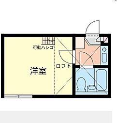 神奈川県横浜市港北区大倉山6丁目の賃貸アパートの間取り