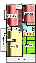 ソレイユモトニ[2階]の間取り