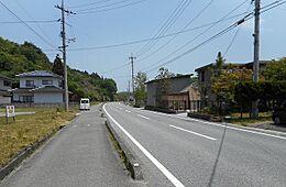 前面道路、南より北を望む。歩道つきの立派な国道です。