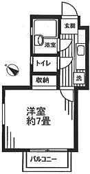 東京都板橋区成増5丁目の賃貸アパートの間取り