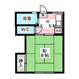 宮城アパートA[2階]の間取り