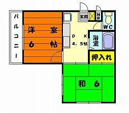 メゾンテイク[2階]の間取り