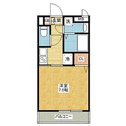 スカイコート御器所[8階]の間取り