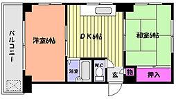 兵庫県神戸市灘区友田町3丁目の賃貸マンションの間取り