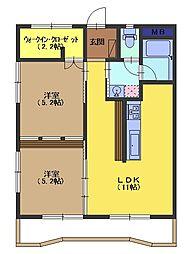 リバーサイドマンション[5階]の間取り