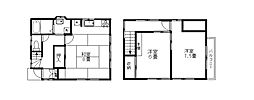 [一戸建] 東京都西東京市下保谷2丁目 の賃貸【/】の間取り